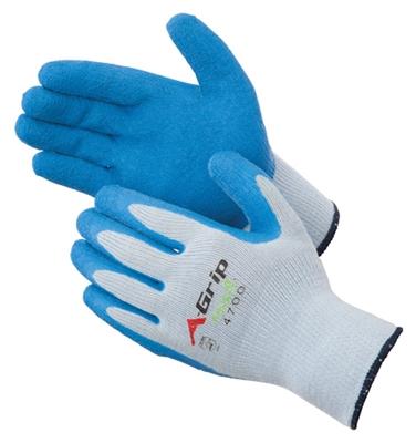 Gloves A Grip Premium Textured Blue Latex Palm
